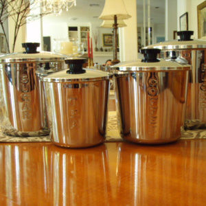 Retro Everedy 4 Piece Stainless Steel Canister Set